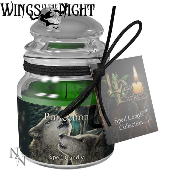Lisa Parker PROTECTION Spell Candle Jar by Nemesis Now